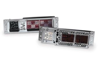 滤波器式机架和面板连接器